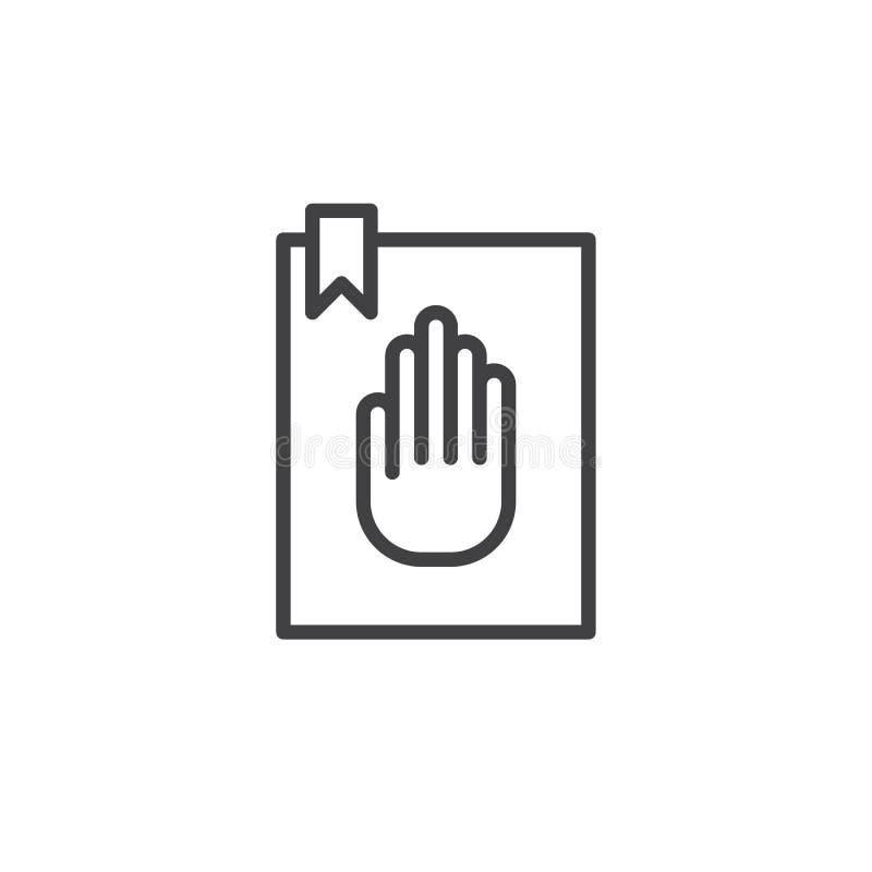 Linha ícone do juramento ilustração royalty free
