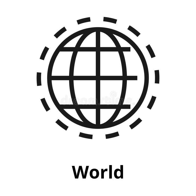 Linha ícone do mundo ilustração do vetor