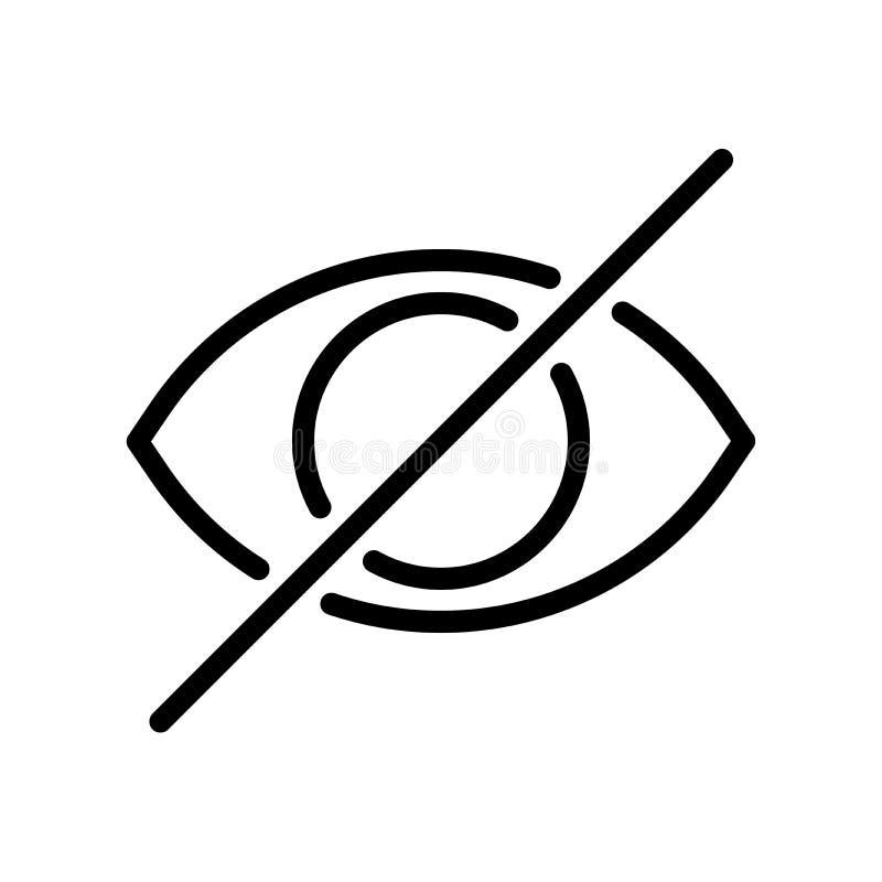 Linha ícone do olho do couro cru ilustração stock