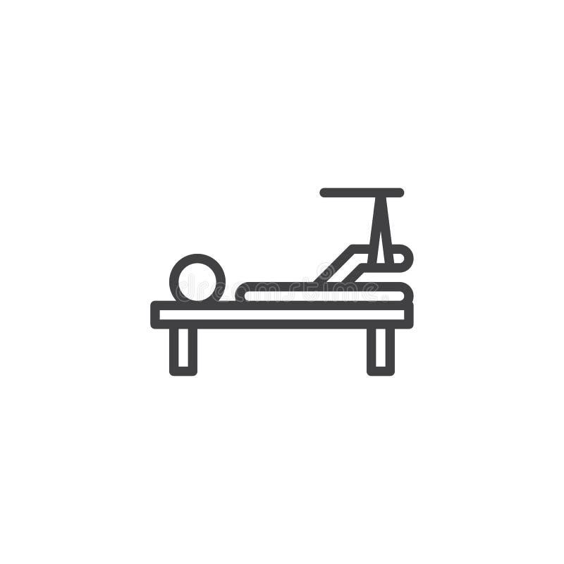 Linha ícone do pé quebrado ilustração royalty free