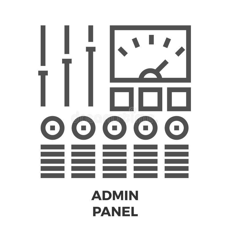 Linha ícone do painel do Admin ilustração royalty free