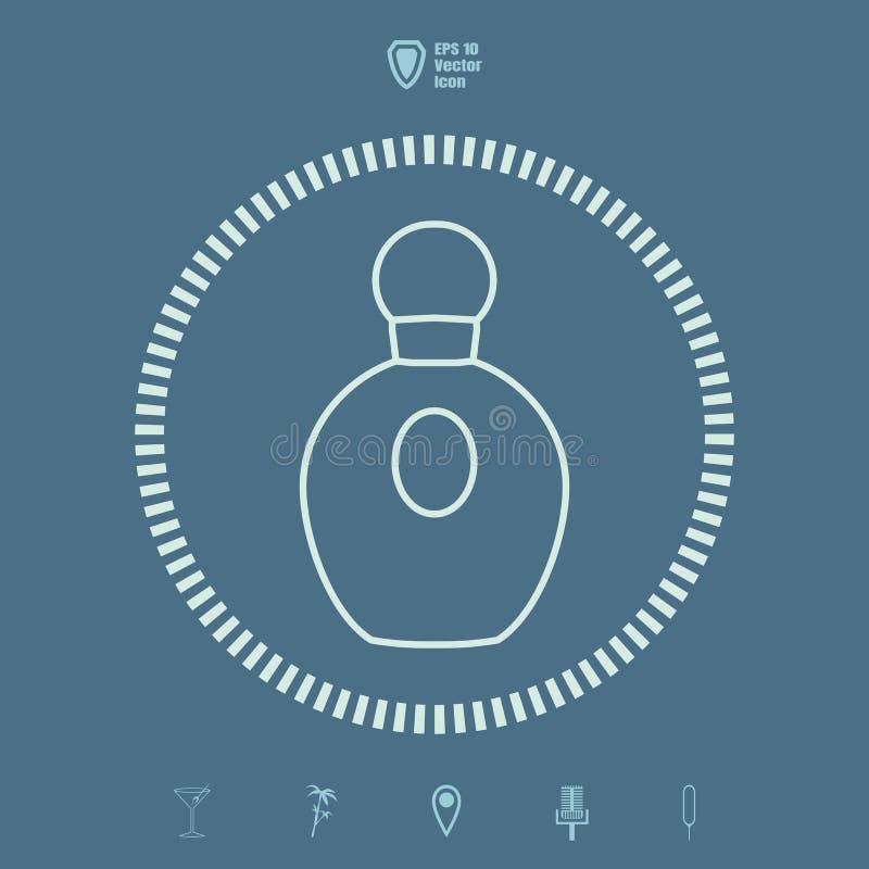 Linha ícone do perfume ilustração do vetor