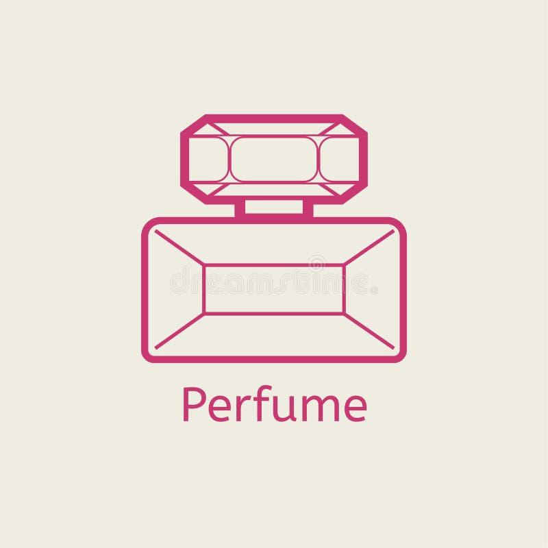 Linha ícone do perfume do aroma Dilua sinais lineares do parfume para a composição e a cara ilustração do vetor