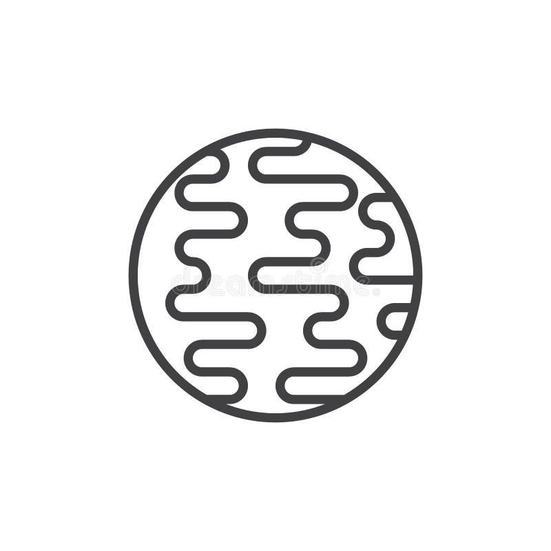 Linha ícone do planeta de Netuno ilustração do vetor
