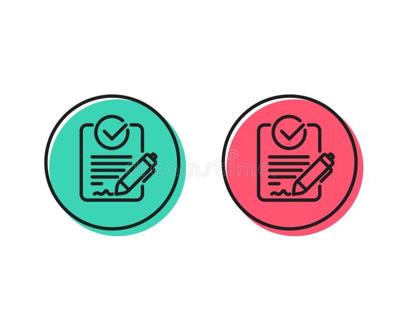Linha ícone do Rfp Sinal do pedido de propostas Vetor ilustração stock