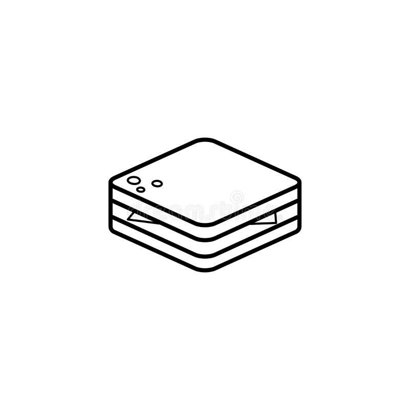 Linha ícone do sanduíche ilustração royalty free