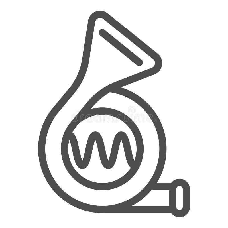 Linha ícone do sinal acústico do carro Ilustração do vetor de sinal isolada no branco Projeto do estilo do esboço da buzina, proj ilustração do vetor