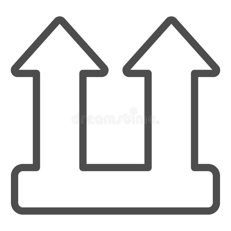Linha ícone do sinal da carga da carga Ilustra??o do vetor do s?mbolo da seta da carga isolada no branco Projeto do estilo do esb ilustração royalty free