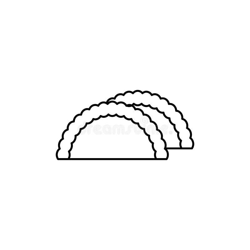Linha ícone do vetor do benefício, sinal, ilustração no fundo, cursos editáveis ilustração do vetor