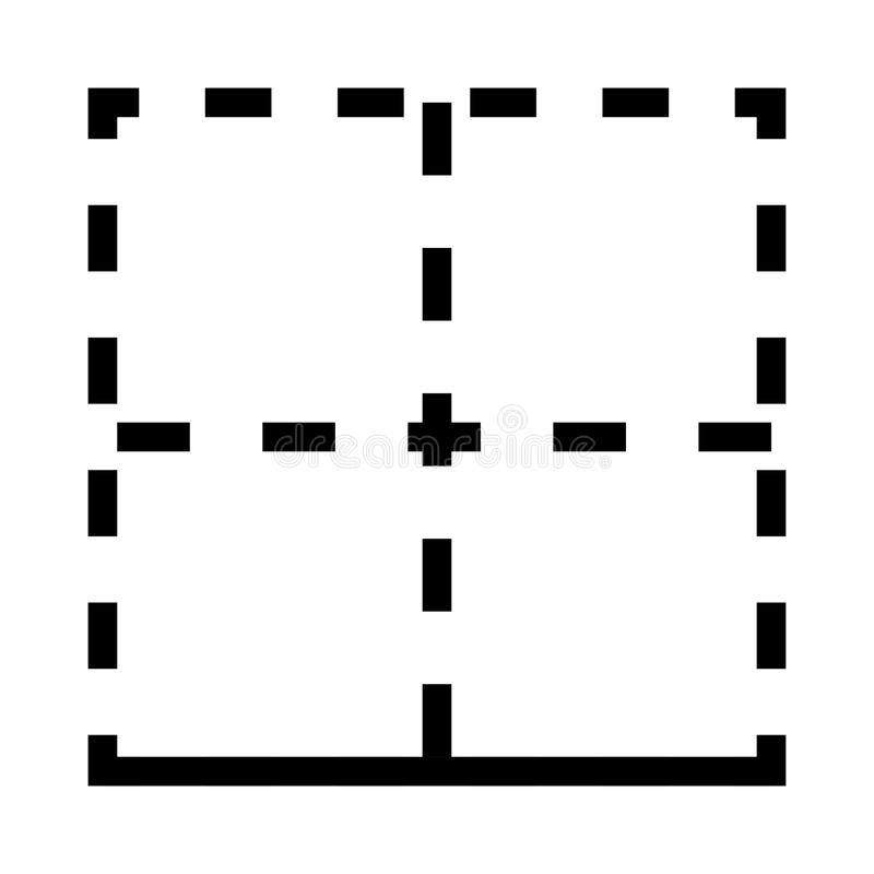 Linha ícone do vetor da disposição ilustração stock