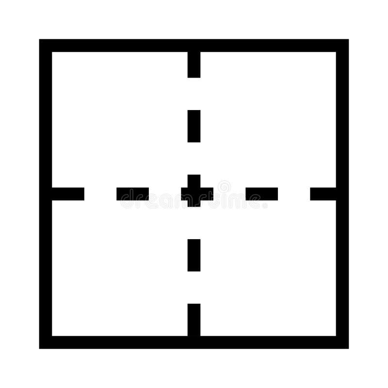 Linha ícone do vetor da disposição ilustração do vetor