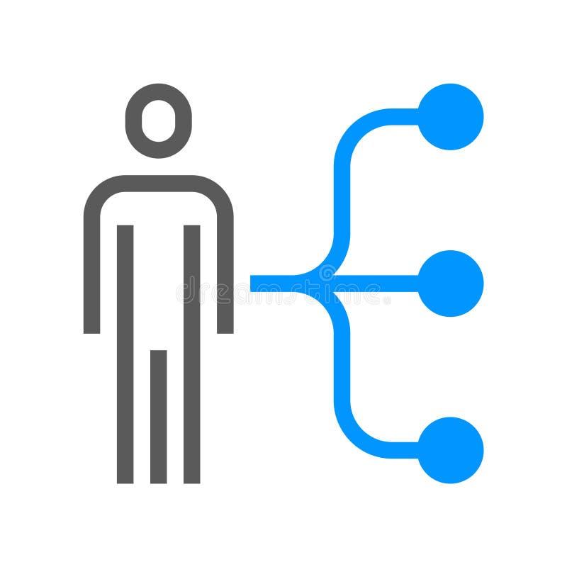 Linha ícone do vetor da gestão de recursos humanos Habilidades do empregado Curso editável pixel 48x48 perfeito ilustração stock