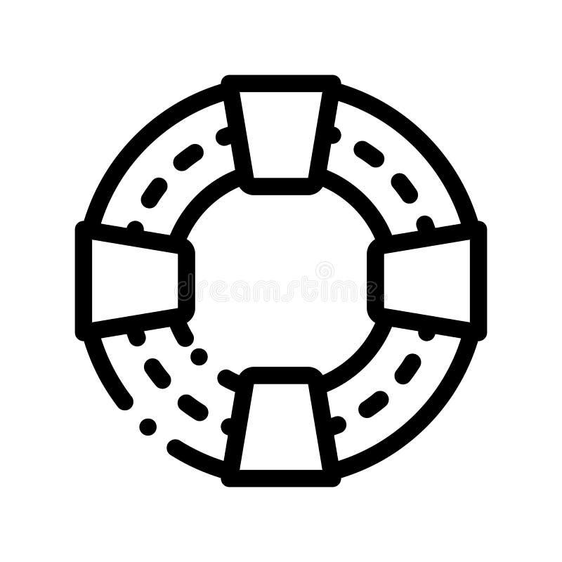 Linha ícone do vetor da poupança de vida do apoio dos voluntários ilustração royalty free