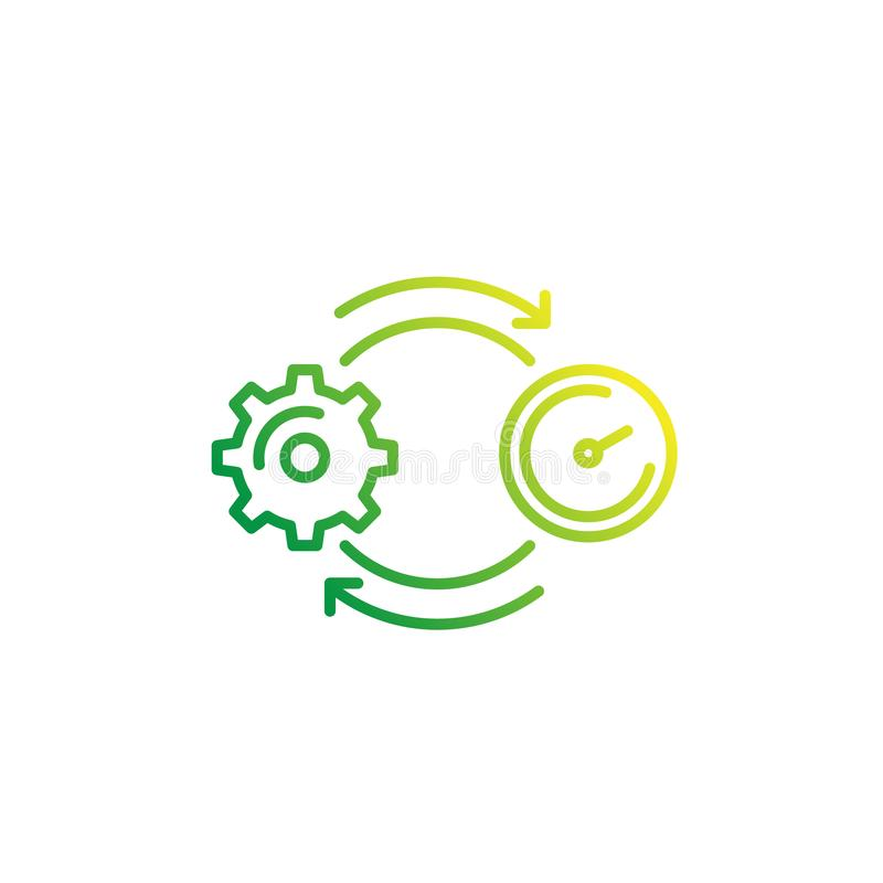 Linha ícone do vetor da produtividade no branco ilustração royalty free