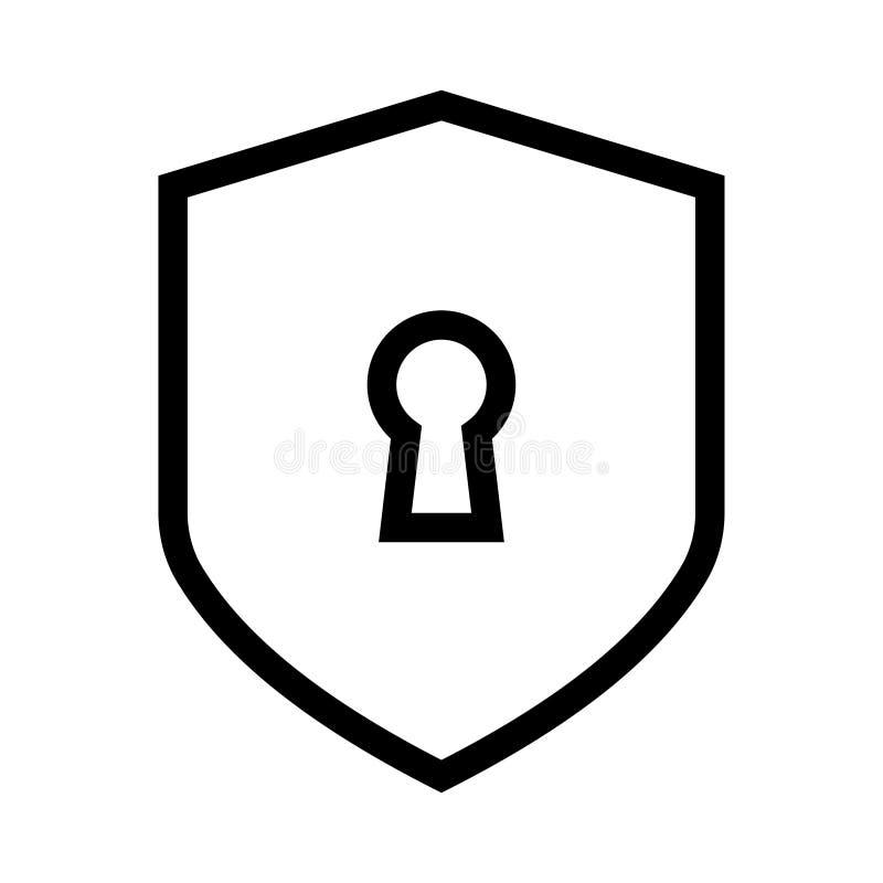 Linha ícone do vetor da segurança ilustração stock