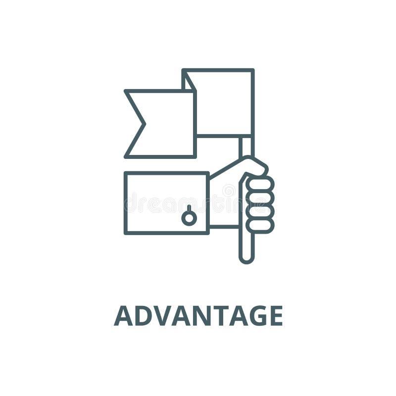 Linha ícone do vetor da vantagem, conceito do esboço, sinal linear ilustração do vetor