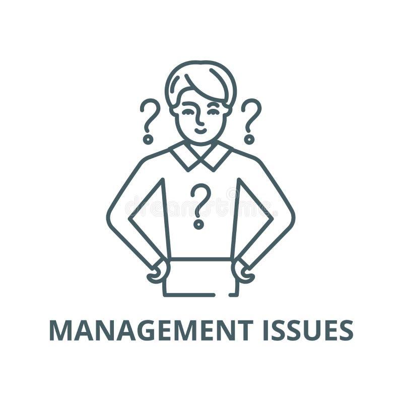 Linha ícone do vetor das edições de gestão, conceito linear, sinal do esboço, símbolo ilustração royalty free