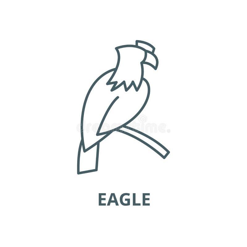 Linha ícone do vetor de Eagle, conceito linear, sinal do esboço, símbolo ilustração royalty free