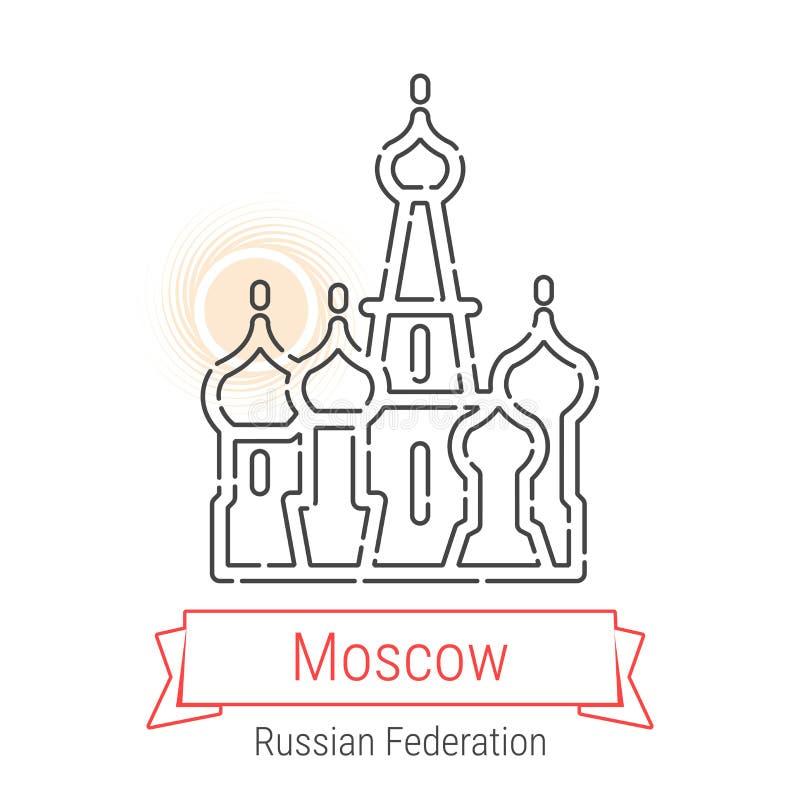 Linha ícone do vetor de Moscou, Rússia ilustração do vetor