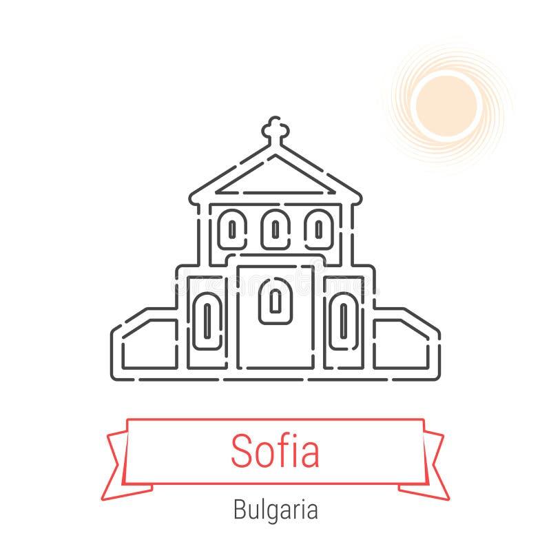 Linha ícone do vetor de Sófia, Bulgária ilustração stock