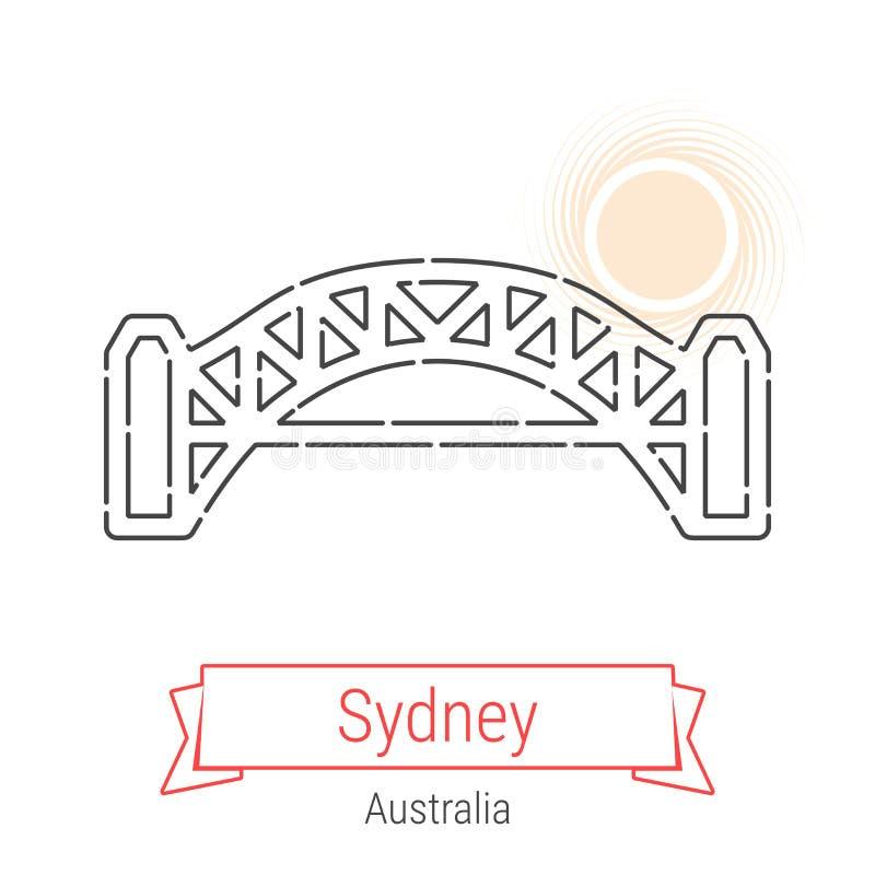 Linha ícone do vetor de Sydney, Austrália ilustração do vetor