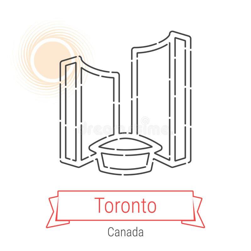 Linha ícone do vetor de Toronto, Canadá ilustração do vetor