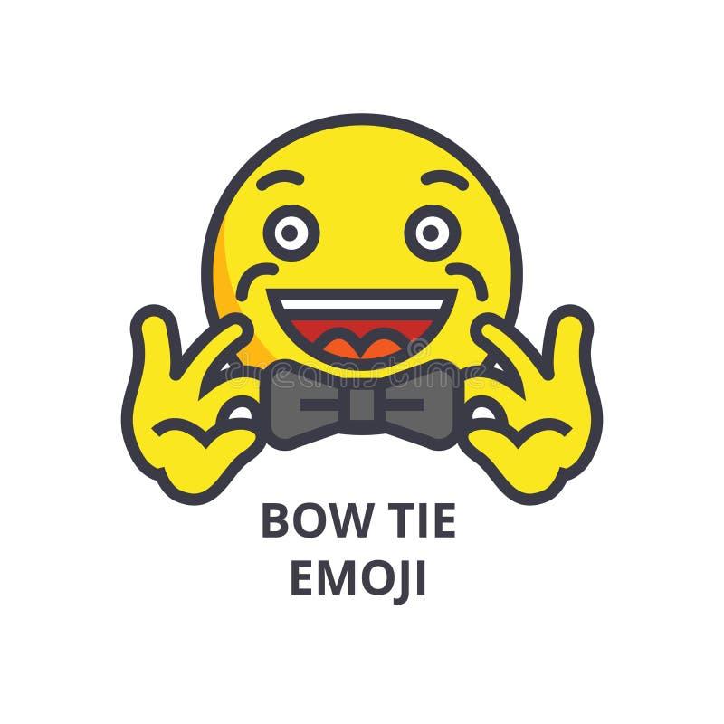 Linha ícone do vetor do emoji do laço, sinal, ilustração no fundo, cursos editáveis ilustração do vetor