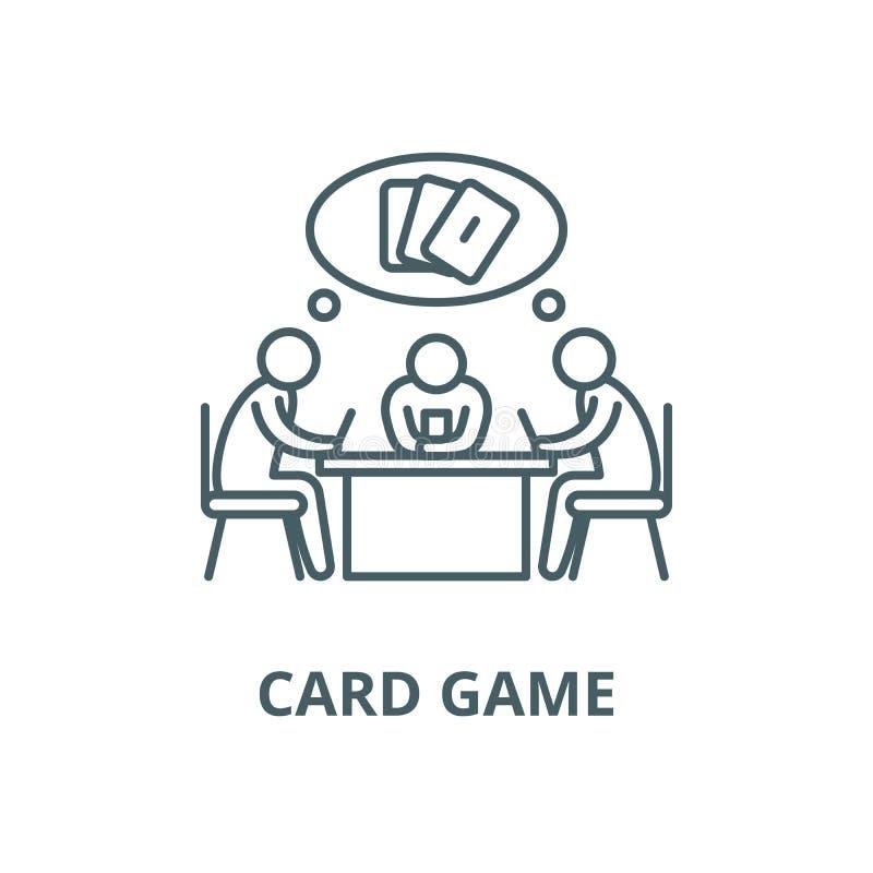 Linha ícone do vetor do jogo de cartas, conceito linear, sinal do esboço, símbolo ilustração do vetor