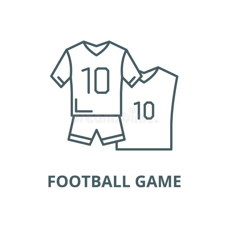 Linha ícone do vetor do jogo de futebol, conceito linear, sinal do esboço, símbolo ilustração do vetor