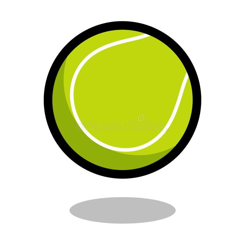 Linha ícone do vetor do logotipo da bola do esporte do tênis do jogo de 3d isolado ilustração stock