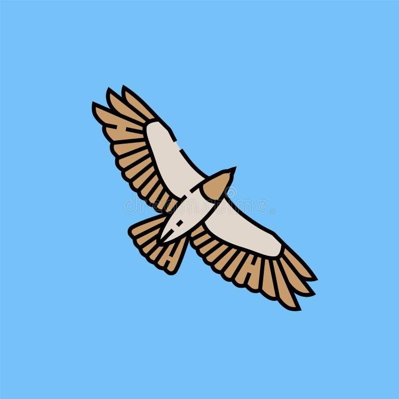 Linha ícone do voo de Eagle ilustração do vetor