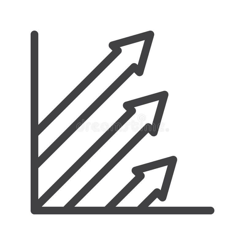 Linha ícone dos lucros ilustração royalty free