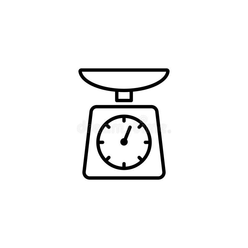 Linha ícone Escalas da cozinha ilustração stock