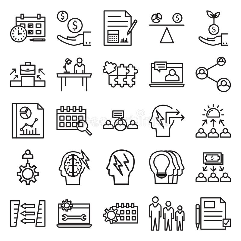 A linha ícone isolado vetor dos conceitos do negócio pode facilmente ser alterada e editado ilustração do vetor