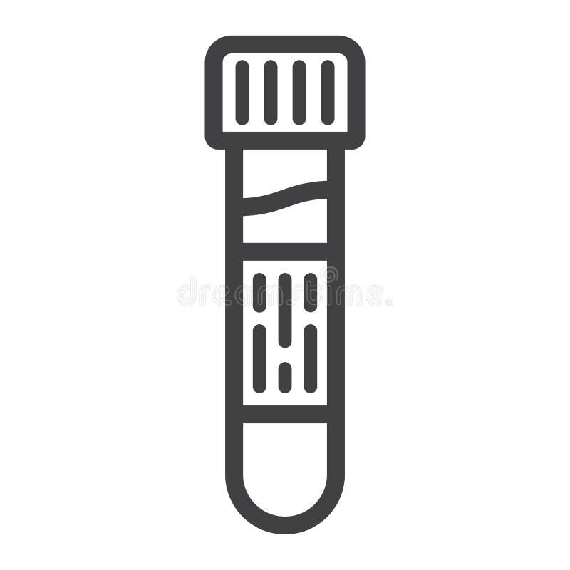 Linha ícone, medicina e cuidados médicos da análise de sangue ilustração royalty free