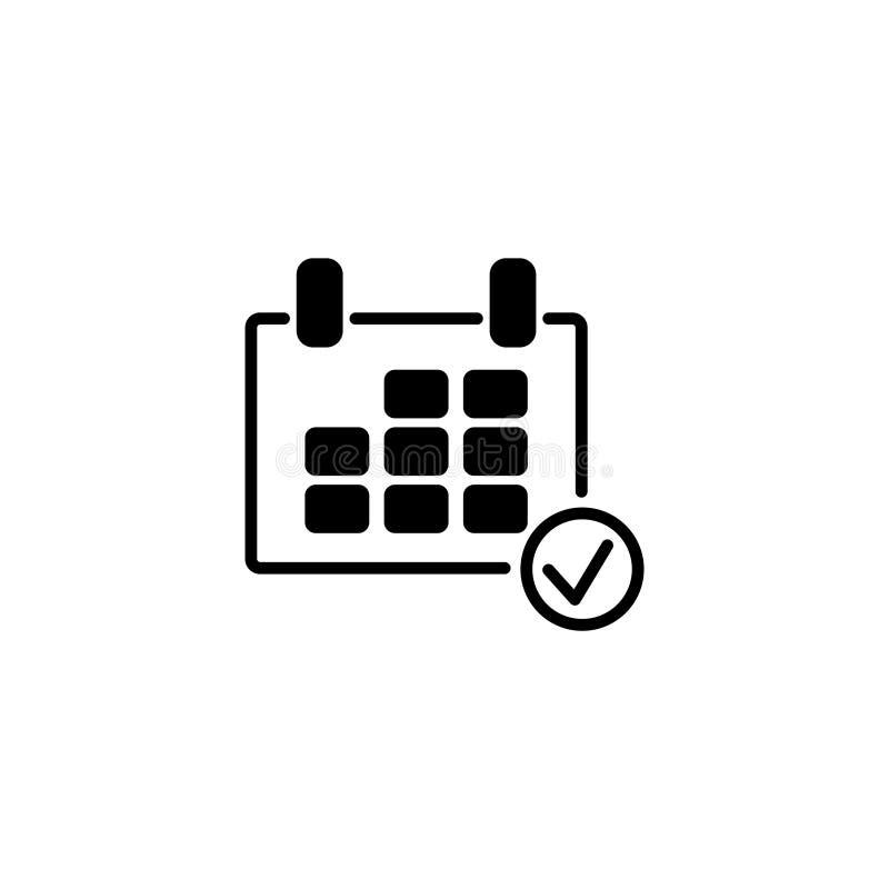 Linha ícone Símbolo do calendário ilustração royalty free