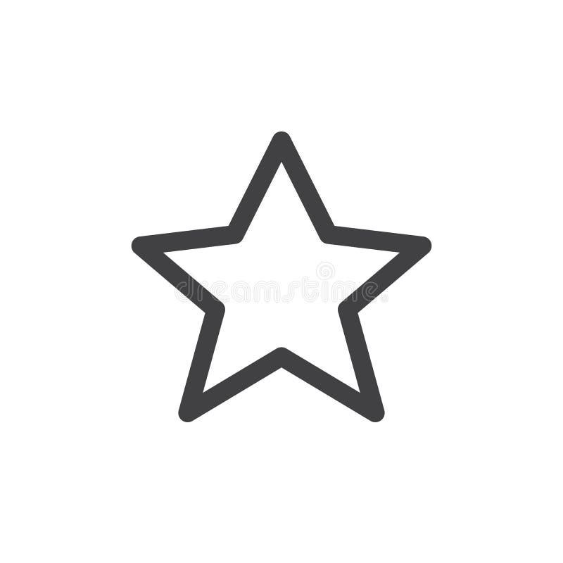 Linha ícone simples da estrela ilustração stock