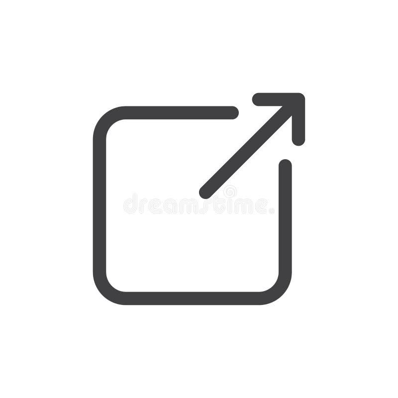 Linha ícone simples da parte ilustração stock