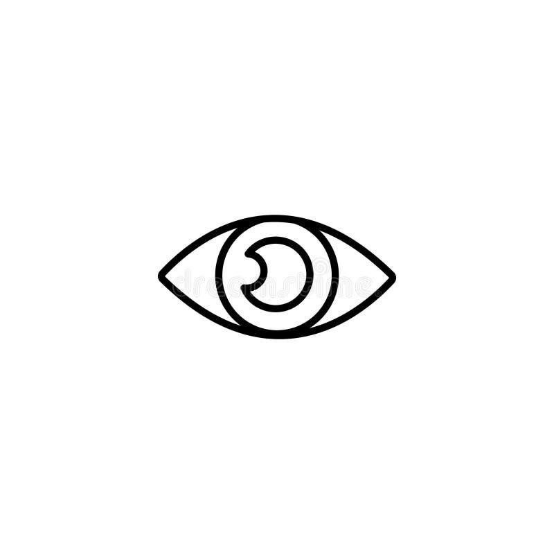Linha ícone Sinal do símbolo do olho ilustração stock