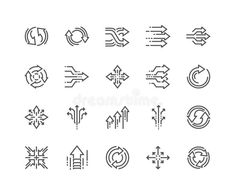 Linha ícones abstratos da transição ilustração royalty free