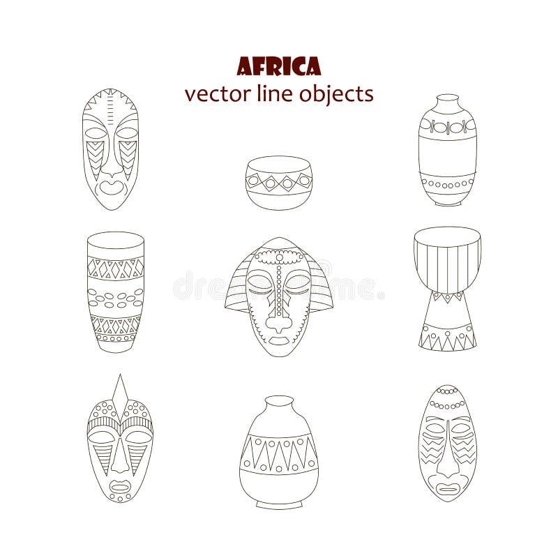 Linha ícones ajustados ilustração do vetor