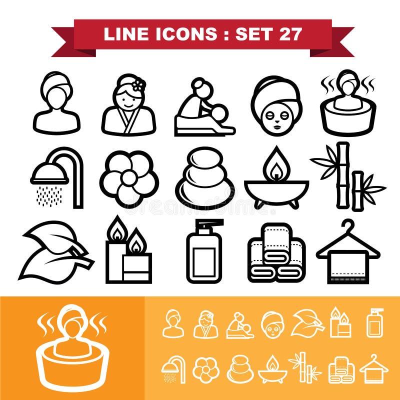 A linha ícones ajustou 27 ilustração royalty free