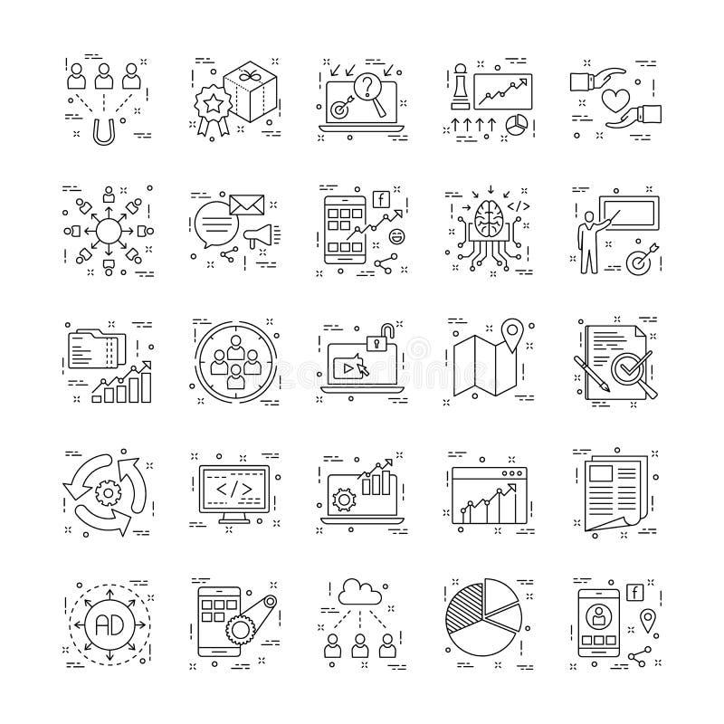 Linha ícones com detalhe 12 ilustração do vetor