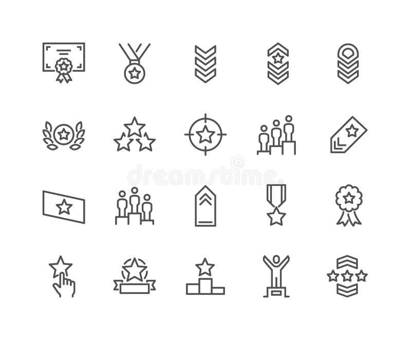Linha ícones de classificação ilustração stock