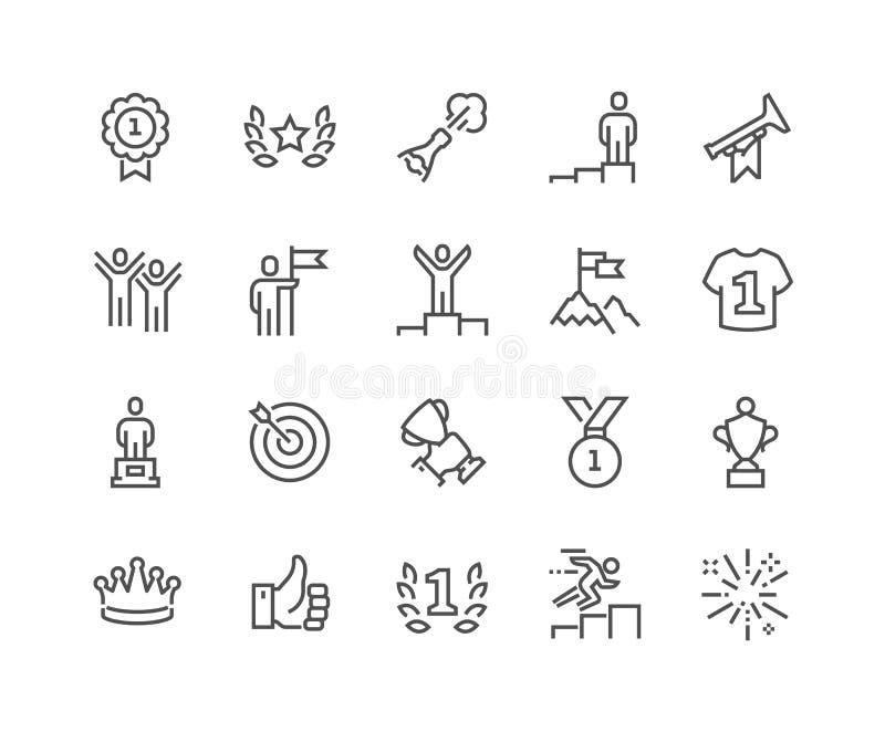Linha ícones de vencimento ilustração stock