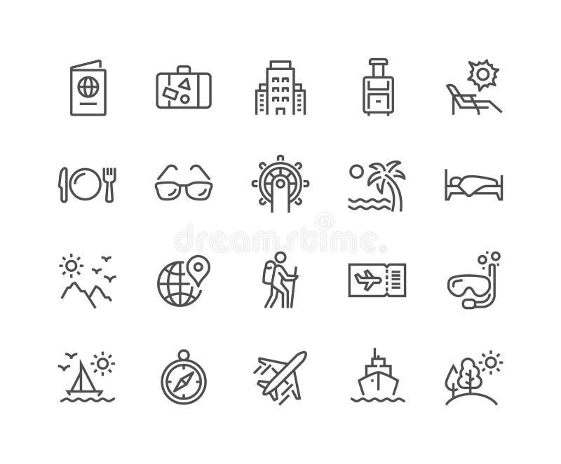 Linha ícones do curso ilustração royalty free