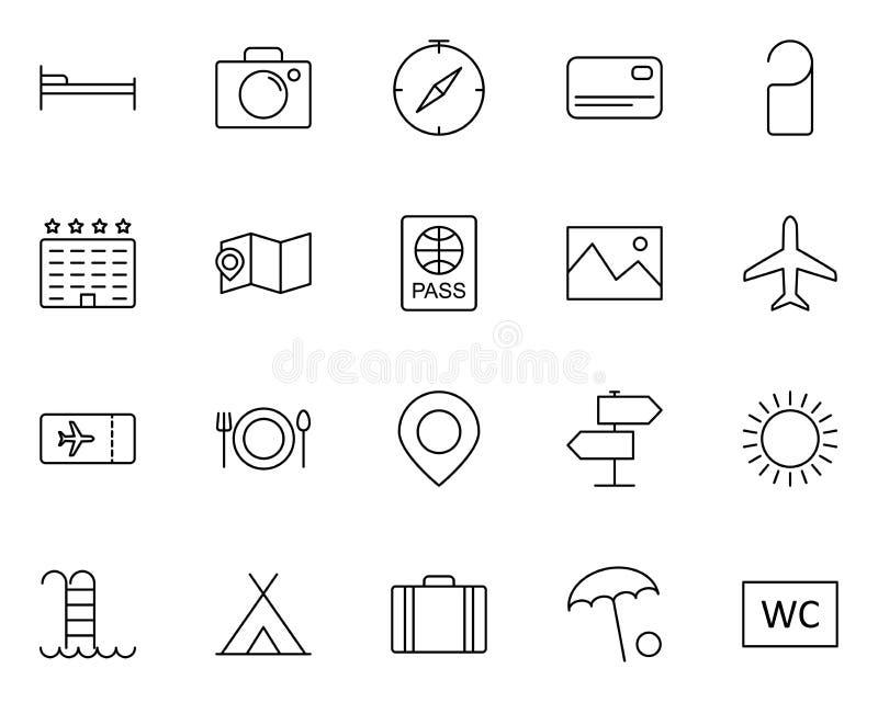linha ícones do curso ajustados Pictograma 96x96 mínimo simples do vetor ilustração do vetor