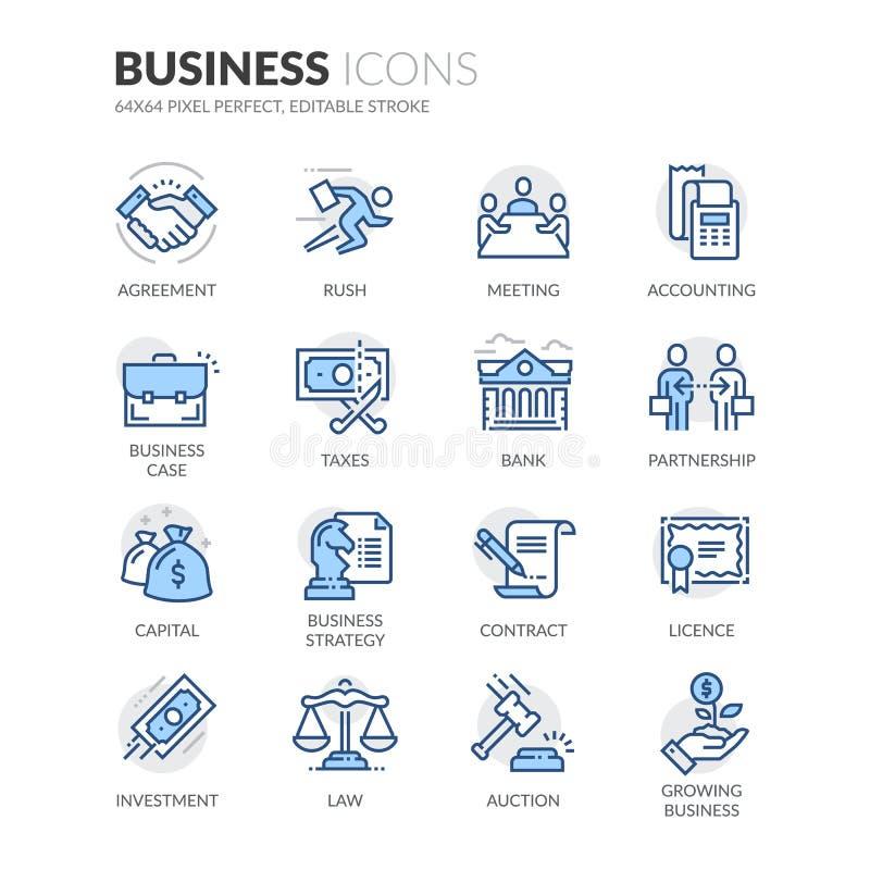 Linha ícones do negócio ilustração do vetor