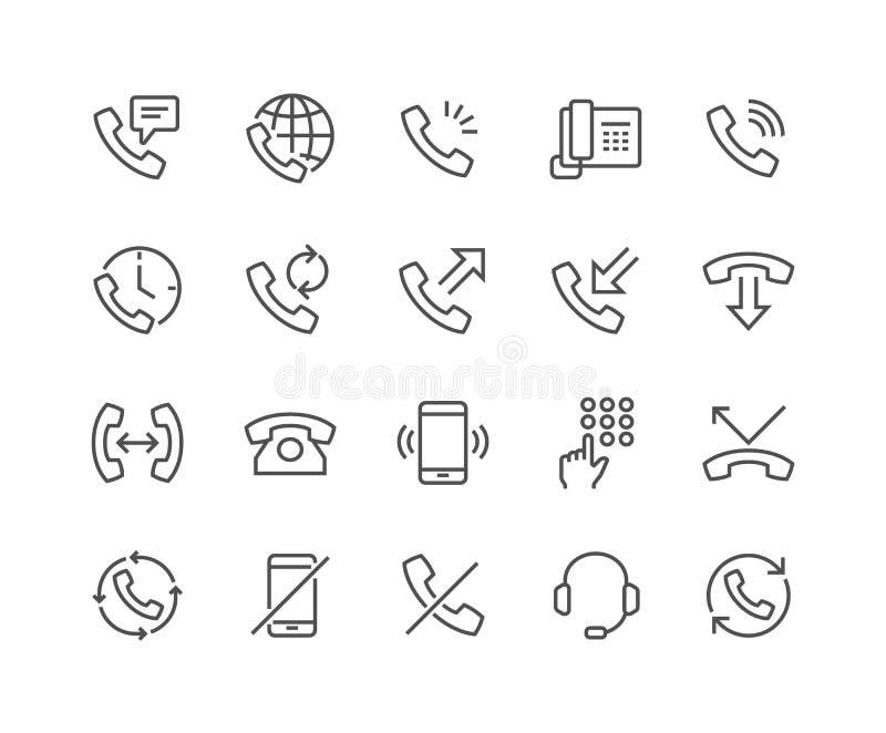 Linha ícones do telefone ilustração royalty free
