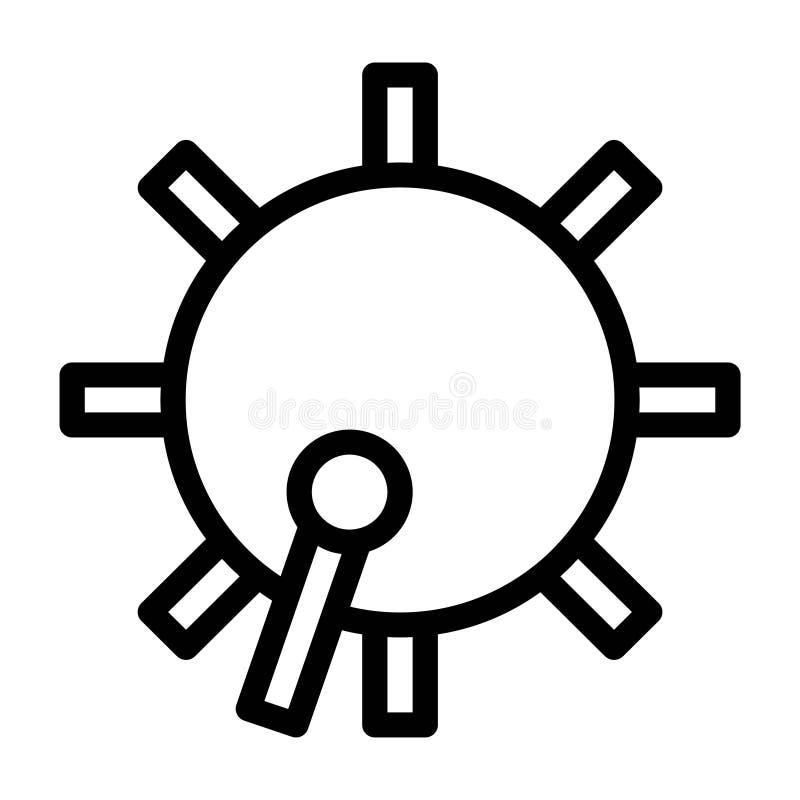 Linha ícones do vetor da cultura da religião do Islã da percussão do instrumento do cilindro da ramadã Curso edit?vel e cor ilustração stock